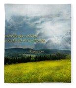 Inspirational - Eternal Hope - Psalms 19-1 Fleece Blanket