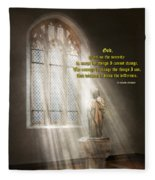 Inspirational - Heavenly Father - Senrenity Prayer  Fleece Blanket