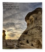 Inspirational Hoodoo Badlands Alberta Canada Fleece Blanket