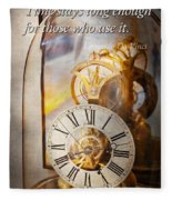 Inspirational - Time - A Look Back In Time - Da Vinci Fleece Blanket