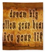 Inspirational Typography  Fleece Blanket