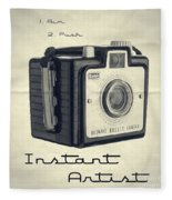Instant Artist Fleece Blanket