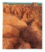 Interesting Desert Landscape Fleece Blanket