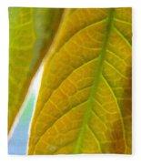 Interesting Leaves - Digital Painting Effect Fleece Blanket