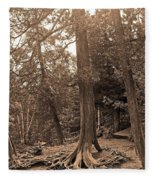 Interesting Tree Fleece Blanket