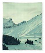 Interfluent Lines Fleece Blanket