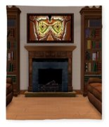 Interior Design Idea - Barn Owl Fleece Blanket