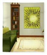 Interior Design Idea - Kiwi Fleece Blanket