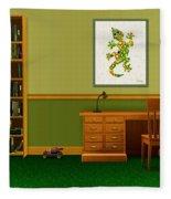Interior Design Idea - Little Lizard - Animal Art Fleece Blanket