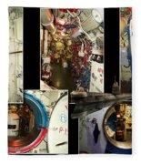 Interior Hatches Collage Russian Submarine Fleece Blanket