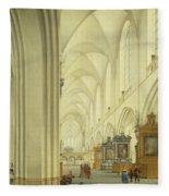 Interior Of Antwerp Cathedral, C.1668 Fleece Blanket