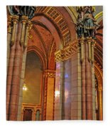 Interior Of Hungarian Parliament Fleece Blanket