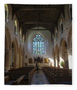 Interior Of St Mary's Church In Rye Fleece Blanket