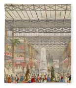 Interior Of The Crystal Palace, Pub Fleece Blanket