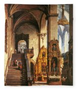 Interior Of The Dominican Church In Krakow Fleece Blanket