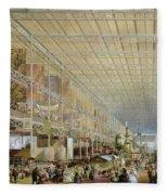 Interior Of The Great Exhibition Of All Fleece Blanket