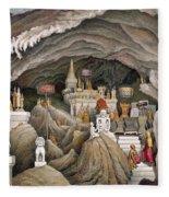 Interior Of The Grotto Of Nam Hou Fleece Blanket
