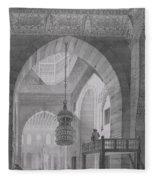 Interior Of The Mosque Of Kaid-bey Fleece Blanket