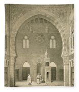 Interior Of The Mosque Of Qaitbay, Cairo Fleece Blanket