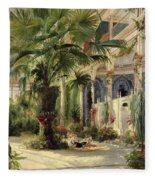 Interior Of The Palm House At Potsdam Fleece Blanket