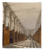 Interior Of Trinity College Library Fleece Blanket