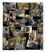 Interior Russian Submarine Horz Collage Fleece Blanket