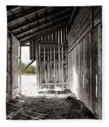 Interiors In Black And White Fleece Blanket