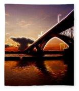 International Peace Bridge Fleece Blanket