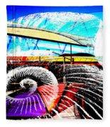 Interstate 10- Cushing St Overpass- Rectangle Remix Fleece Blanket