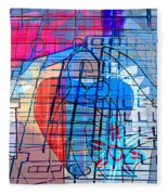Interstate 10- Exit 255- Miracle Mile Overpass- Rectangle Remix Fleece Blanket