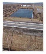 Interstate 75 Construction Ohio Aerial Fleece Blanket