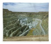 Inti Raymi Gold Mine Quarry In Oruro Fleece Blanket
