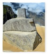 Inti Watana Stone Calendar At Machu Picchu Fleece Blanket