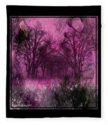 Into A Dark Pink Forest Fleece Blanket
