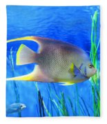 Into Blue - Tropical Fish By Sharon Cummings Fleece Blanket