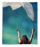 Into The Atmosphere Fleece Blanket