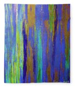 Into The Blue Abstract 2 Fleece Blanket
