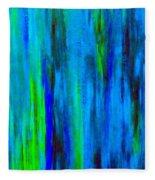 Into The Blue Fleece Blanket