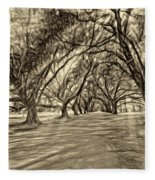 Into The Deep South - Paint 2 Sepia Fleece Blanket