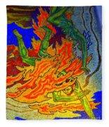 Into The Flames Of Hell Fleece Blanket