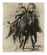 Into The Fray - Confederate Generals Fleece Blanket