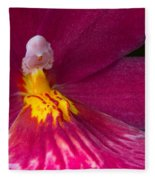 Into The Orchid Fleece Blanket