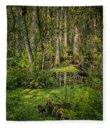 Into The Swamp Fleece Blanket