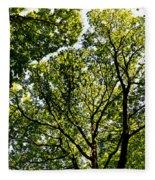 Into The Trees Fleece Blanket