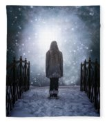 Into The Unknown Fleece Blanket