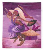 Intore Dance From Rwanda Fleece Blanket