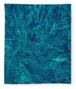 Intricate Blue Fleece Blanket