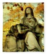 Invasion Of Autumn Fleece Blanket