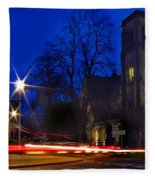 Inverness Cathedral At Night Fleece Blanket