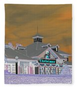 Invert Of The Apple Barn's Christmas Shop In Pigeon Forge Tennessee Fleece Blanket